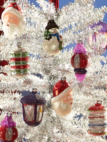 Christmas Set.Vintage Glass Ornaments Set Of 12