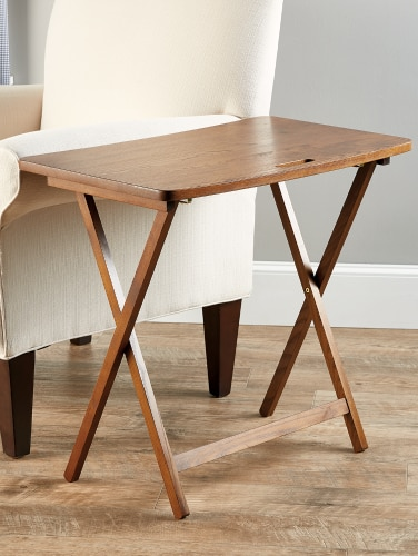 Solid Wood Folding Table Red Oak