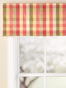 Moire Plaid Tailored Valance