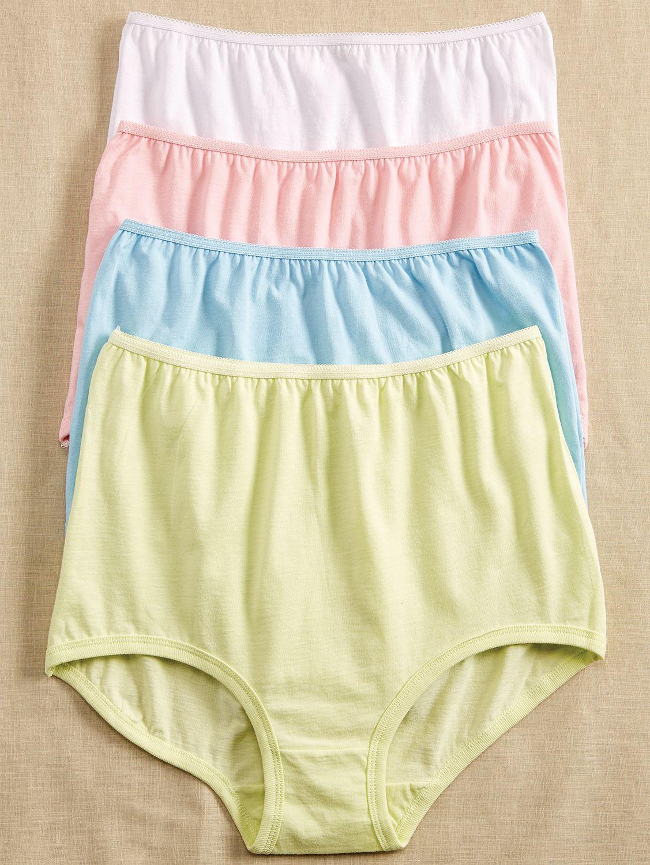 ab2d55216e6cff Soft Leg Cotton Panties | Women's Cotton Underwear - 4 Pairs