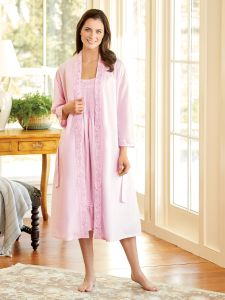 6227e3b855 Ella Simone Lovely Cotton Robe