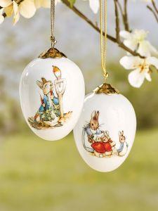 Peter Rabbit Porcelain Eggs, Set of 2