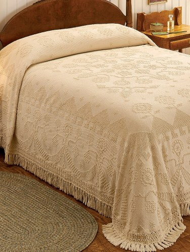 Old Fashioned Cotton Bedspreads.Hobnail Cotton Bedspread