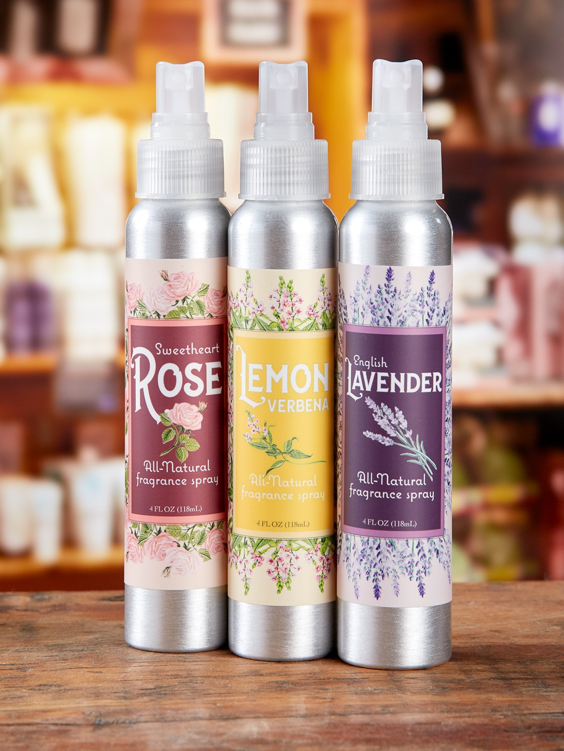 All-Natural Body Spray, In 3 Scents