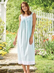 c8ba5a5923ef Eileen West Turquoise Sea Glass Nightgown