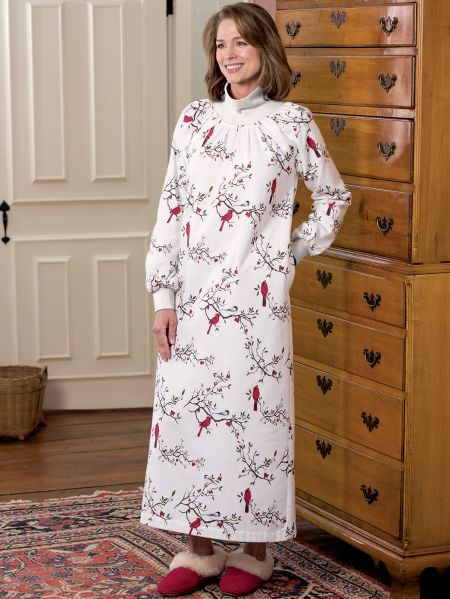 Womens Portuguese Flannel Mock Neck Nightgown 63eb55811