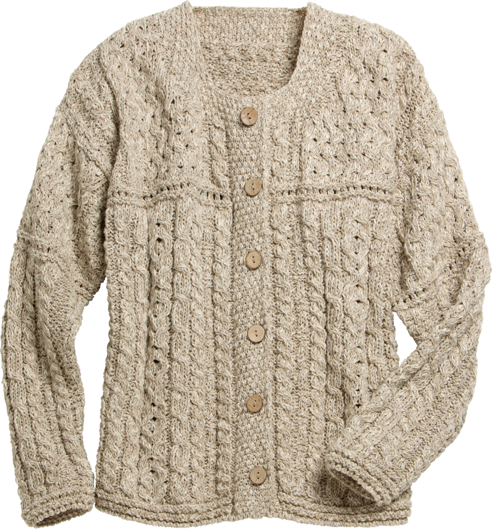 Irish Lightweight Cotton-Linen Blend Sweater For Women