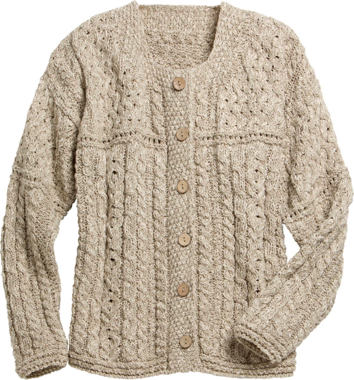 1a79c1ecb Irish Lightweight Cotton-Linen Blend Sweater For Women