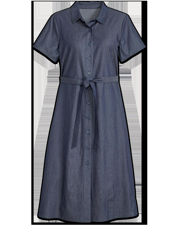Womens Denim Shirt Dress | Cotton Button Down Dresses