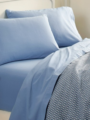 Ultra Soft Cotton Flannel Sheet Set In Solid Colors