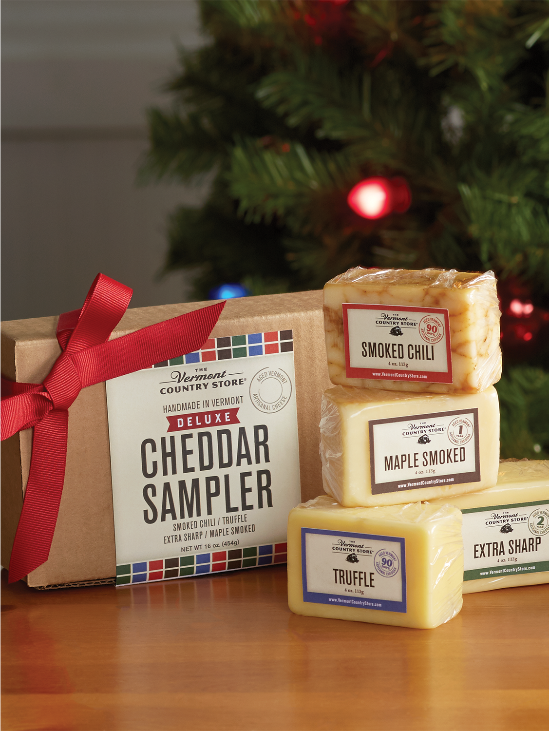One Pound Deluxe Cheddar Sampler