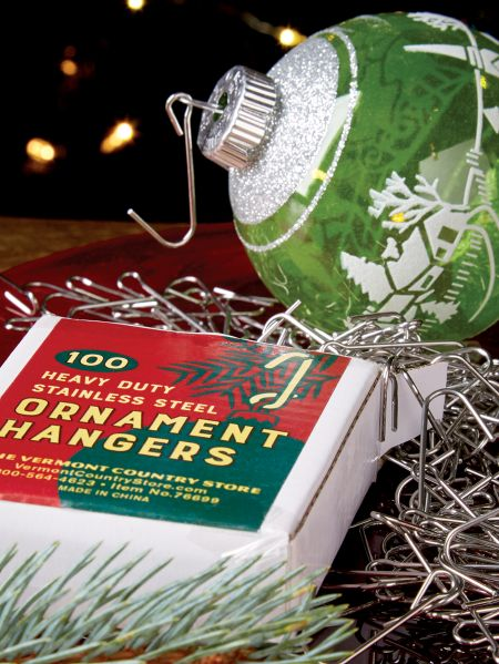- Christmas Ornament Hooks 100 Count Box Stainless Steel J-Hooks