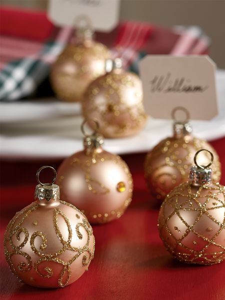 Gl Ornament Place Card Holders Set Of 6