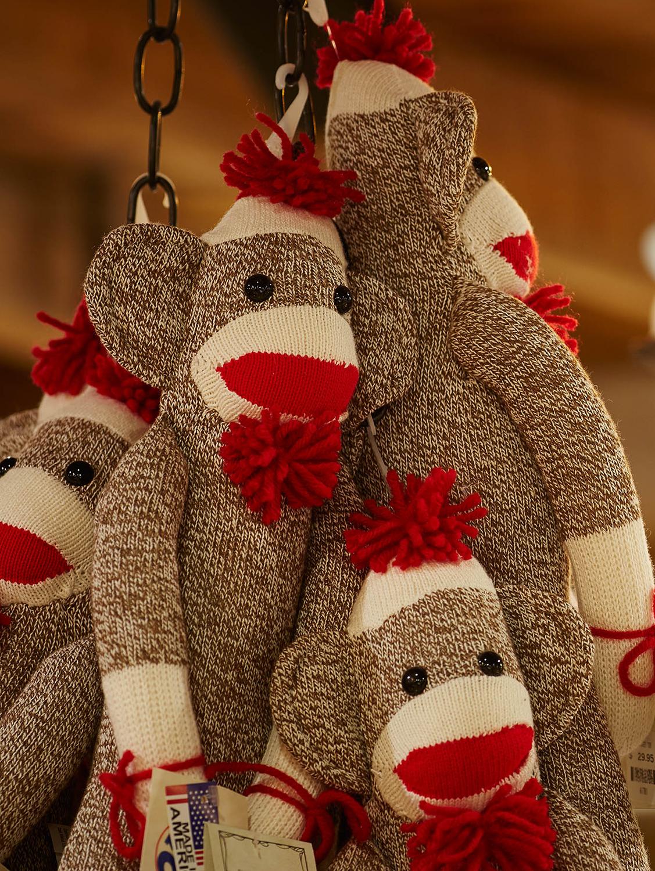 Classic Sock Monkey Stuffed Animal