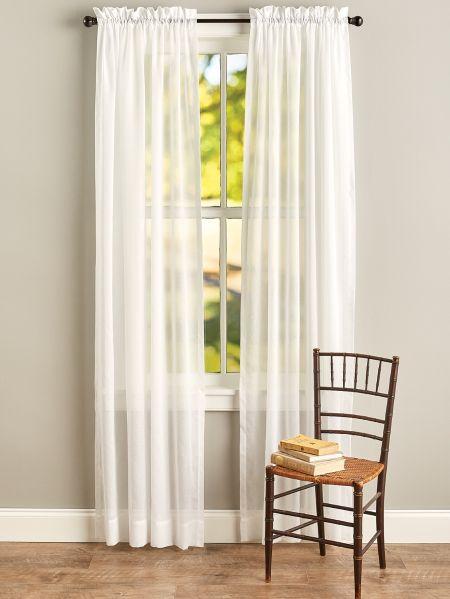 Cotton Voile Rod Pocket Window Panels