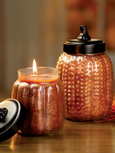 Pumpkin Shaped Scented Glass Jar Candle Halloween Candle
