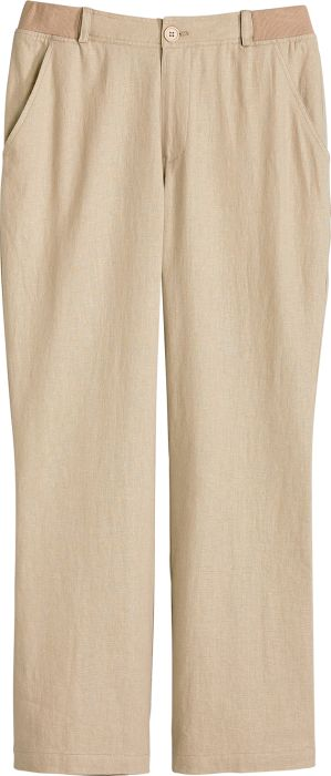7e3a71ca516 Womens Linen-Blend Pants - Casual Flat Front Pants