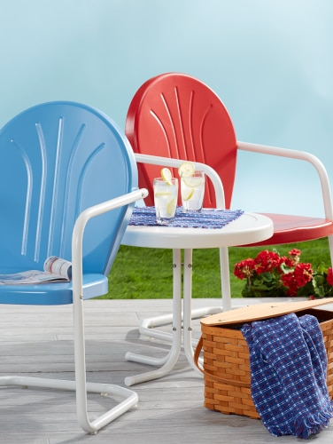 Vintage Metal Lawn Chairs >> Vintage Outdoor Chairs Shell Back Metal Lawn Chair
