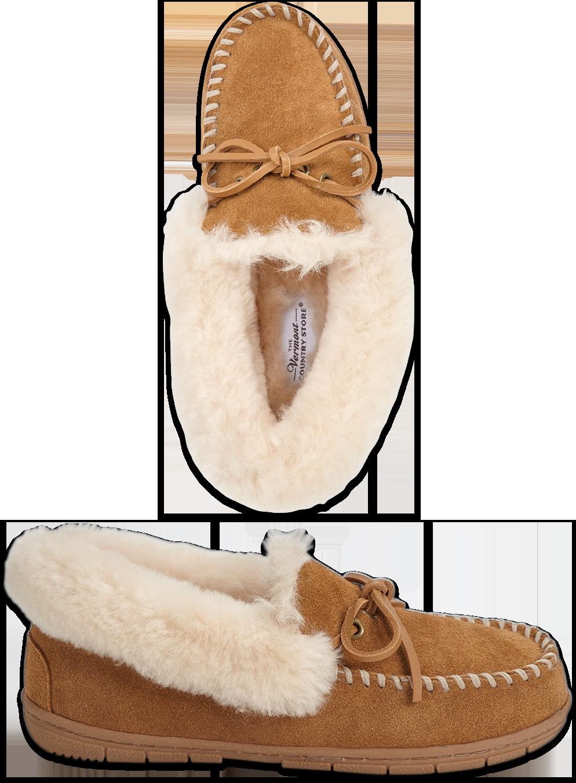 Women's Sheepskin Moccasins