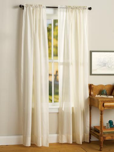 Striped Semi Sheer Rod Pocket Curtains