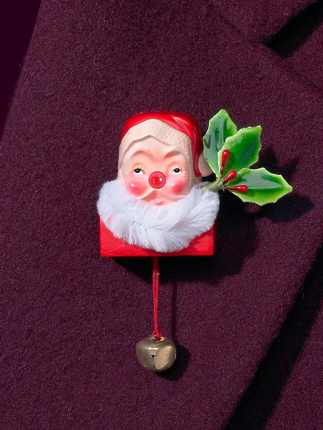 boxed-gifts Santa Claus Christmas Tie Tack with Chain