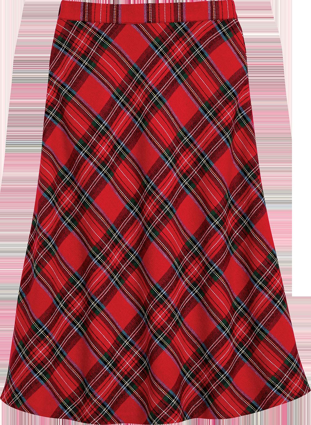 Easy-Care Tartan Skirt