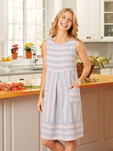 6714d56d37 Ella Simone Striped Sleeveless Dress