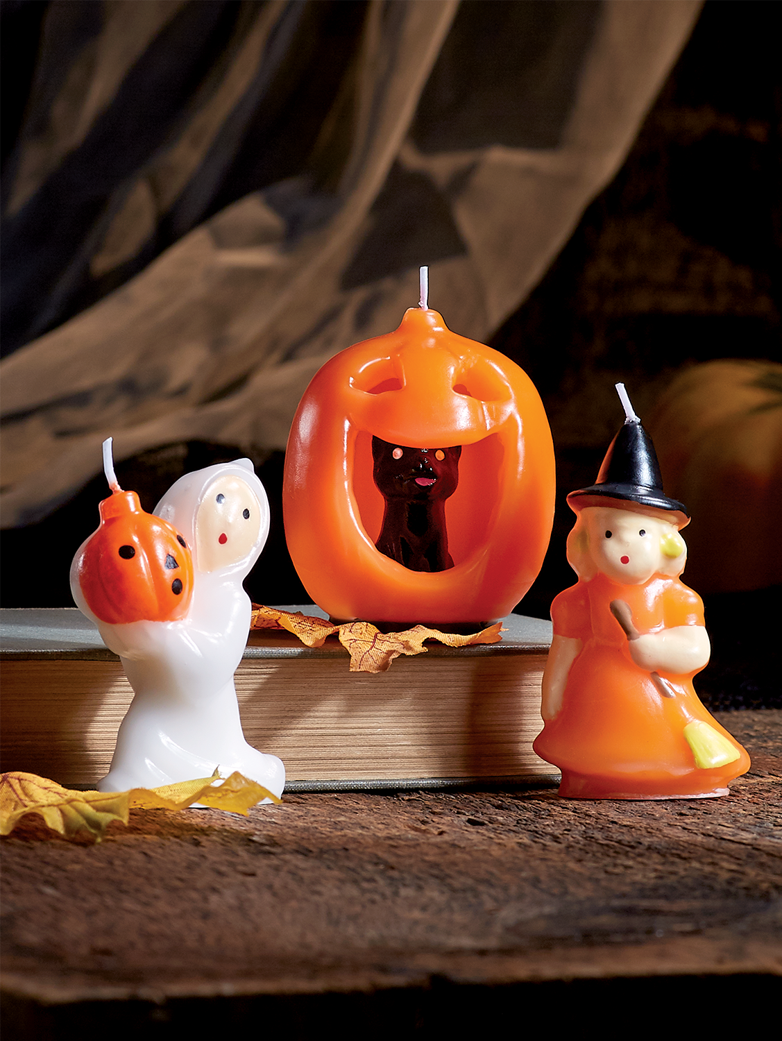 Halloween Candle Trio