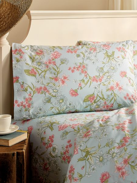 Pastel Daisy Floral Percale Sheet Set Vermont Country Store