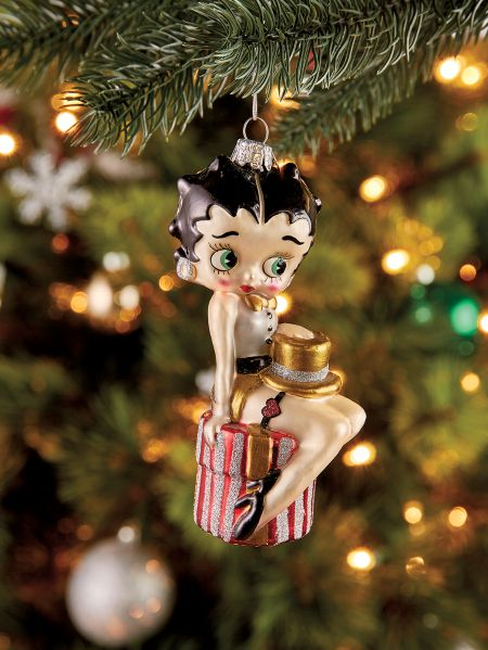 Betty Boop Glass Ornament - Betty Boop Glass Christmas Tree Ornament