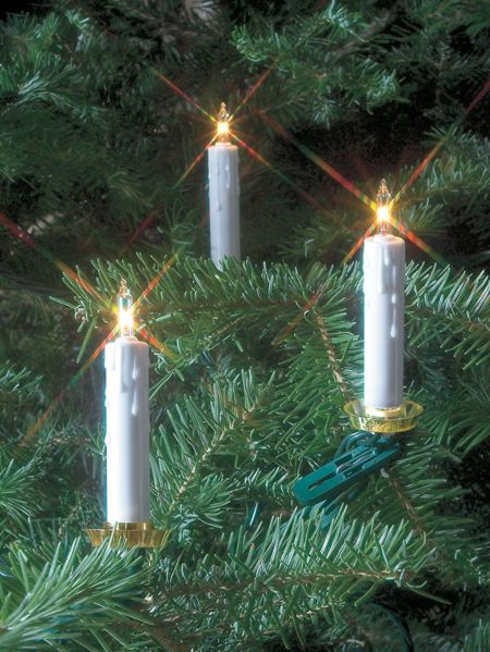 Clip-On Christmas Tree Candle Lights