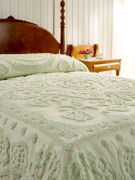 Fl Chenille Bedspread Vermont, Chenille Bedding Queen