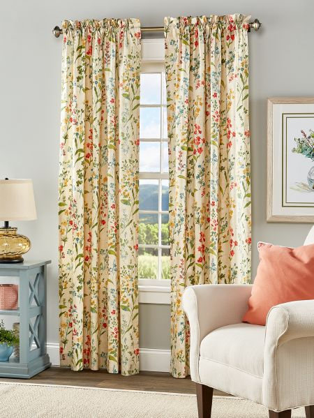 Cottage Garden Rod Pocket Curtain Panels