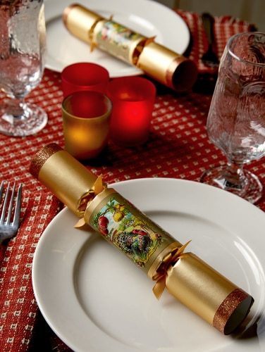 English Christmas Crackers.Holiday Party Crackers Set Of 12