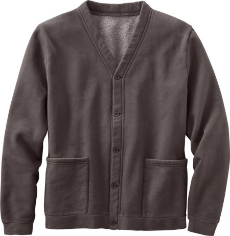 Mens Cardigan Sweatshirt With Full Button Front