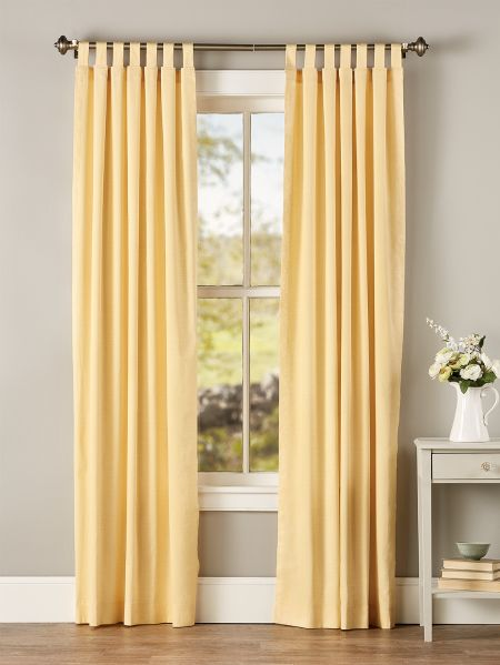 Weaver S Cloth Tab Top Curtain Panels Vermont Country Store