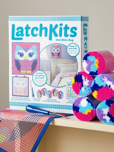 Kids Owl Latch Hook Kit Vermont