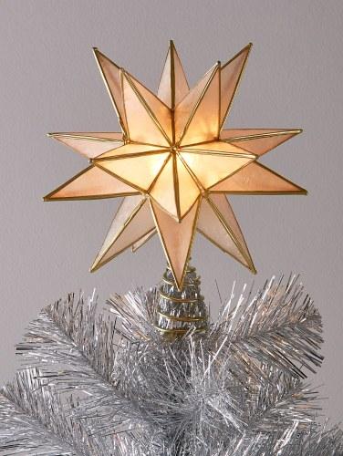 Christmas Tree Topper.Luminous Capiz Shell Christmas Tree Topper