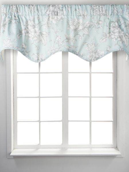 sheer home shop rod scarf amazing vcny deal pocket in window infinity coral valance