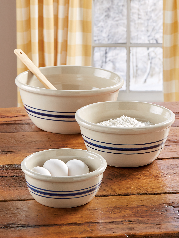 Cavendish Stoneware Mixing Bowls, Set Of 3