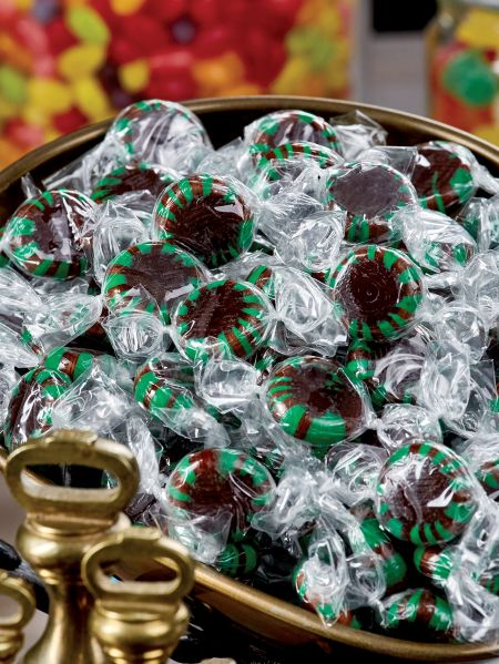 Chocolate Starlight Mints Hard Candy | 2 lb Bag