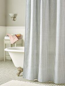 Cotton Duck Shower Curtain In 2 Sizes