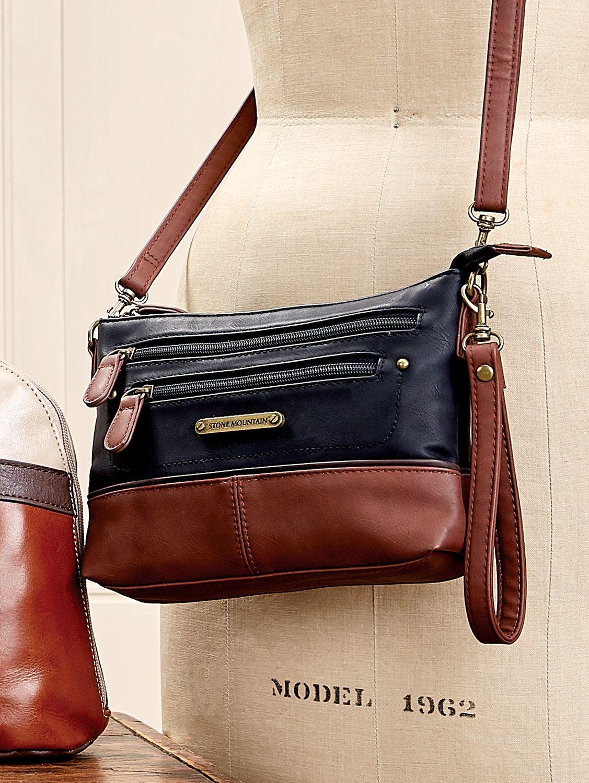 Stone Mountain Essex Mini Bag 3 In 1 Leather Handbag