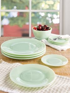 b7bc03b447c Mosser Depression Glass Salad and Dinner Plates