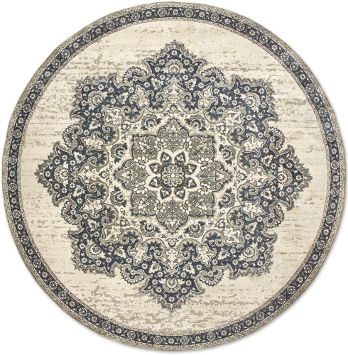 Traditional Medallion Rug with Border