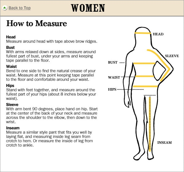 bc871f12a98f The Vermont Country Store Fit Guide | Size Chart for Clothing